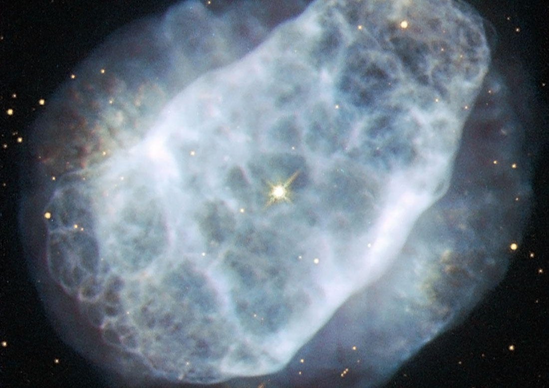 The Big Picture: Nitrogen-rich star left a beautiful corpse
