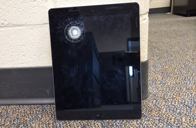 ipad with bullet wound
