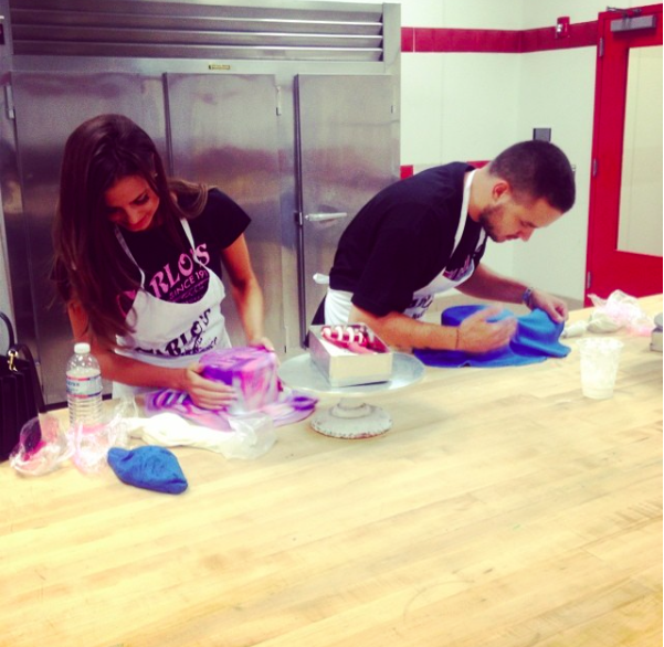liam payne sophia smith cake decorating pic