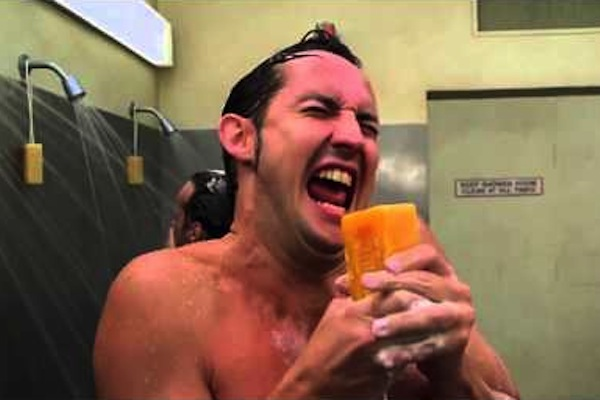 things every man does in the shower, sing, shower soap half baked