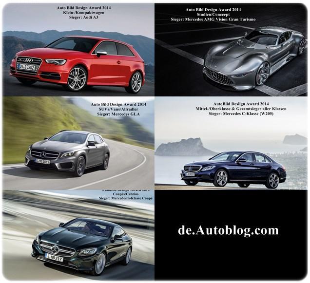 Auto Bild, Auto Bild design award, Mercedes-Benz, das schönste Auto der Welt, das schönste Auto Deutschlands, Mercedes-Benz, C-Klasse, Mercedes C-klasse W205, Audi A2, die schönsten Auto