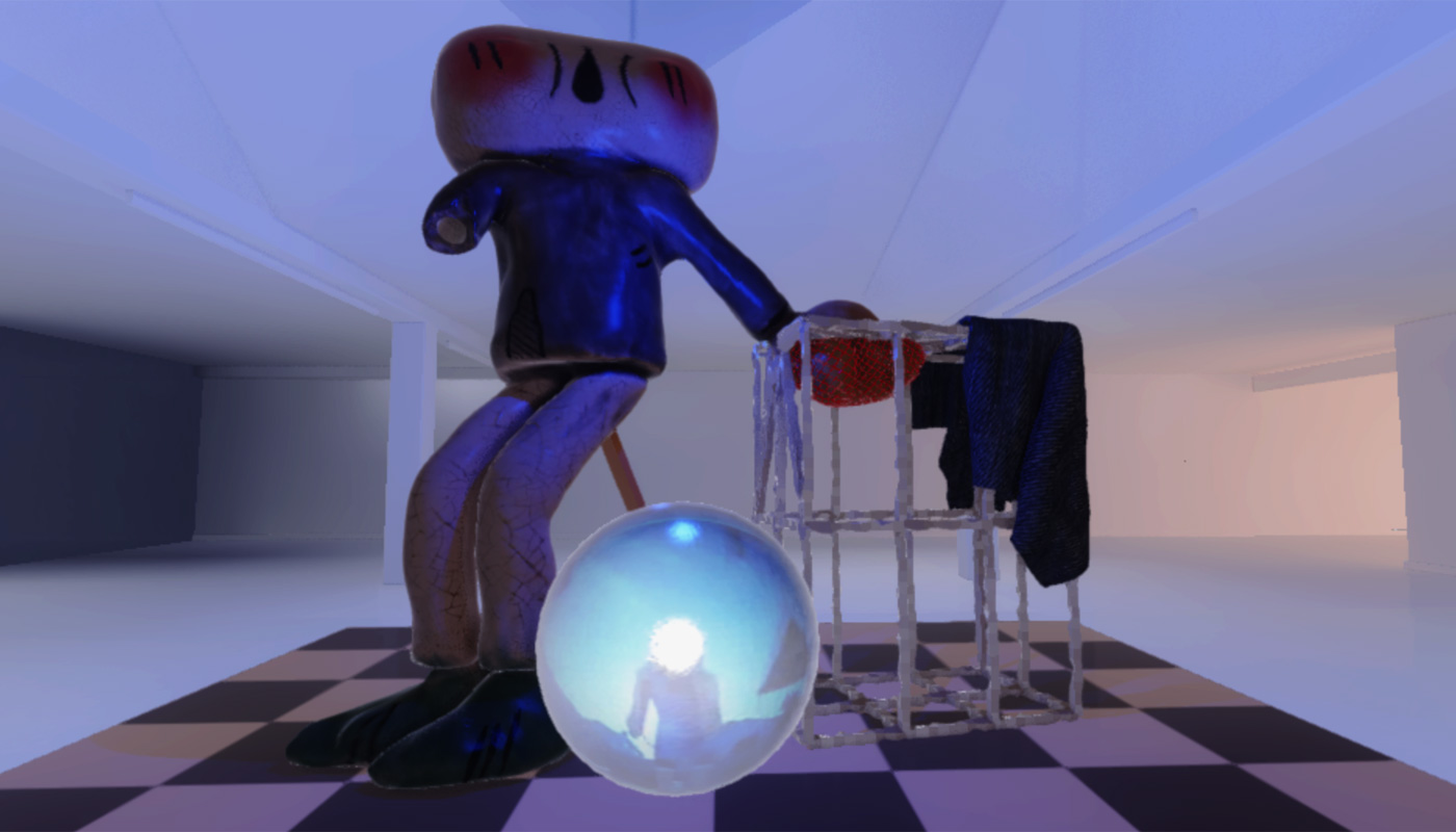 Virtual art gallery mimics and defies reality