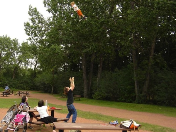 funny dads, best dads, dad tossing son
