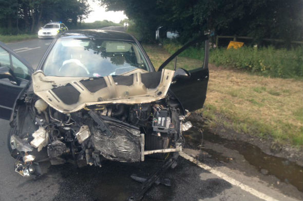 Driver crashes into other car after blinding following sat nav instructions