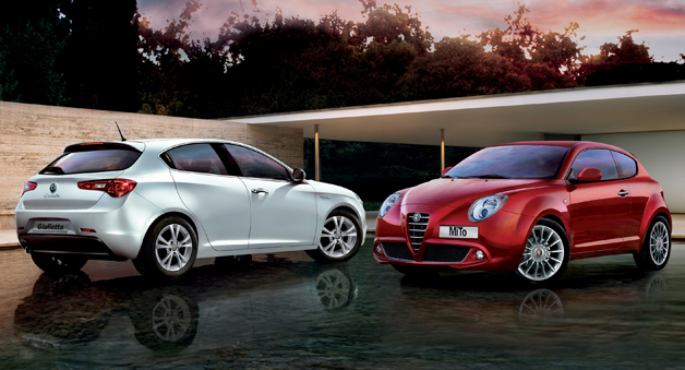 The Alfa Romeo Mito and Giulietta hatchbacks