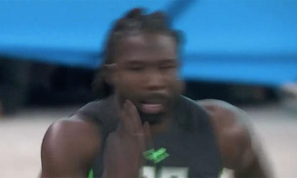 陸上選手を遥かに凌ぐ加速度!アメフト選手のトライアウトの俊足ぶりがすごすぎる【動画】