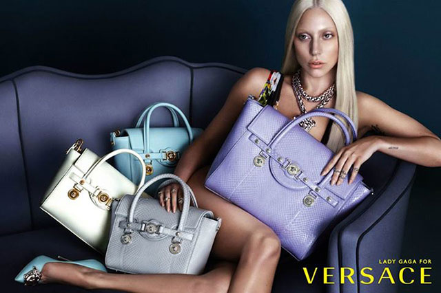 versace lady gaga campaign