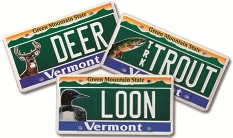 State of vermont environmental license plate