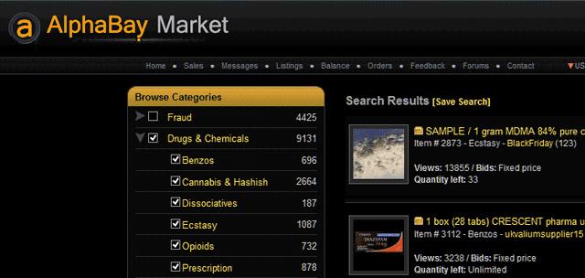 AlphaBay: Größter Darknet-Marktplatz hochgenommen
