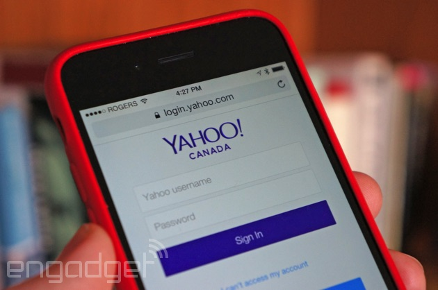 Signing into Yahoo