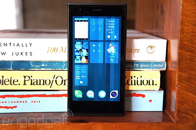The Jolla phone running Sailfish
