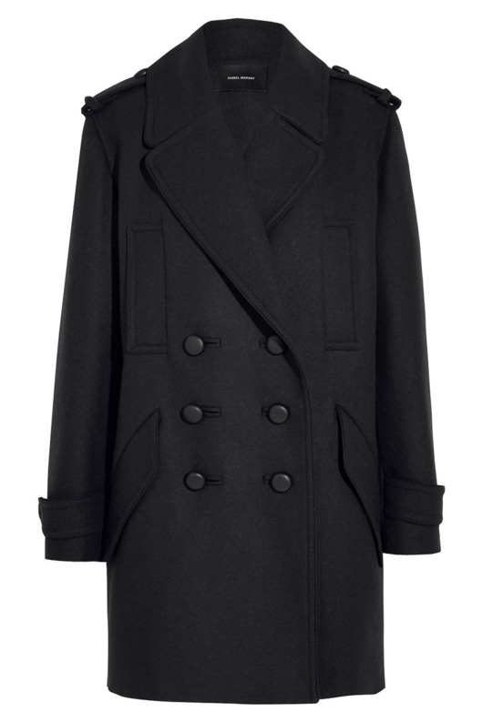 Isabel Marant Karly oversize double-breasted wool-blend coat