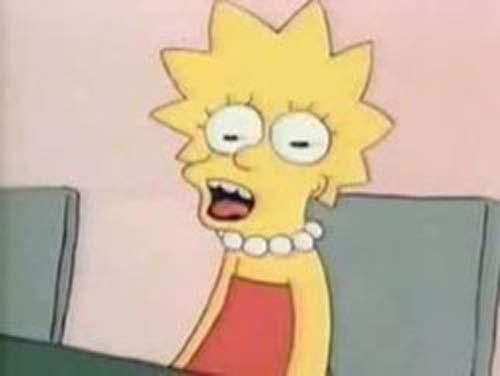 funny simpsons screenshots, hilarious simpsons freeze frames, lisa simpson