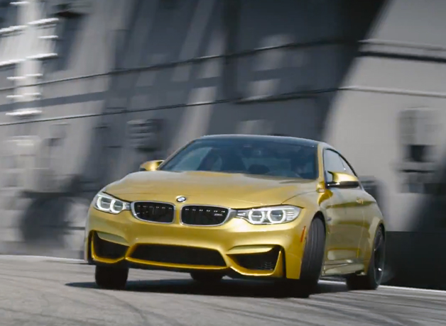 Watch the BMW M4 drift around an aircraft carrier