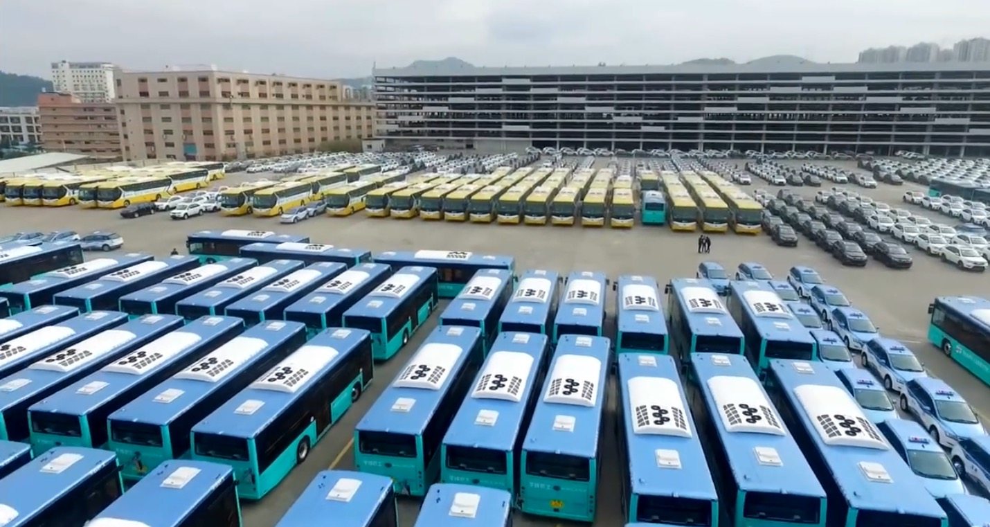 Shenzhen hat seine 16.359 Busse elektrifiziert