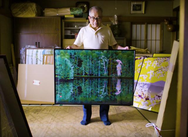 Japanischer Rentner malt Bilder mit Microsoft Excel