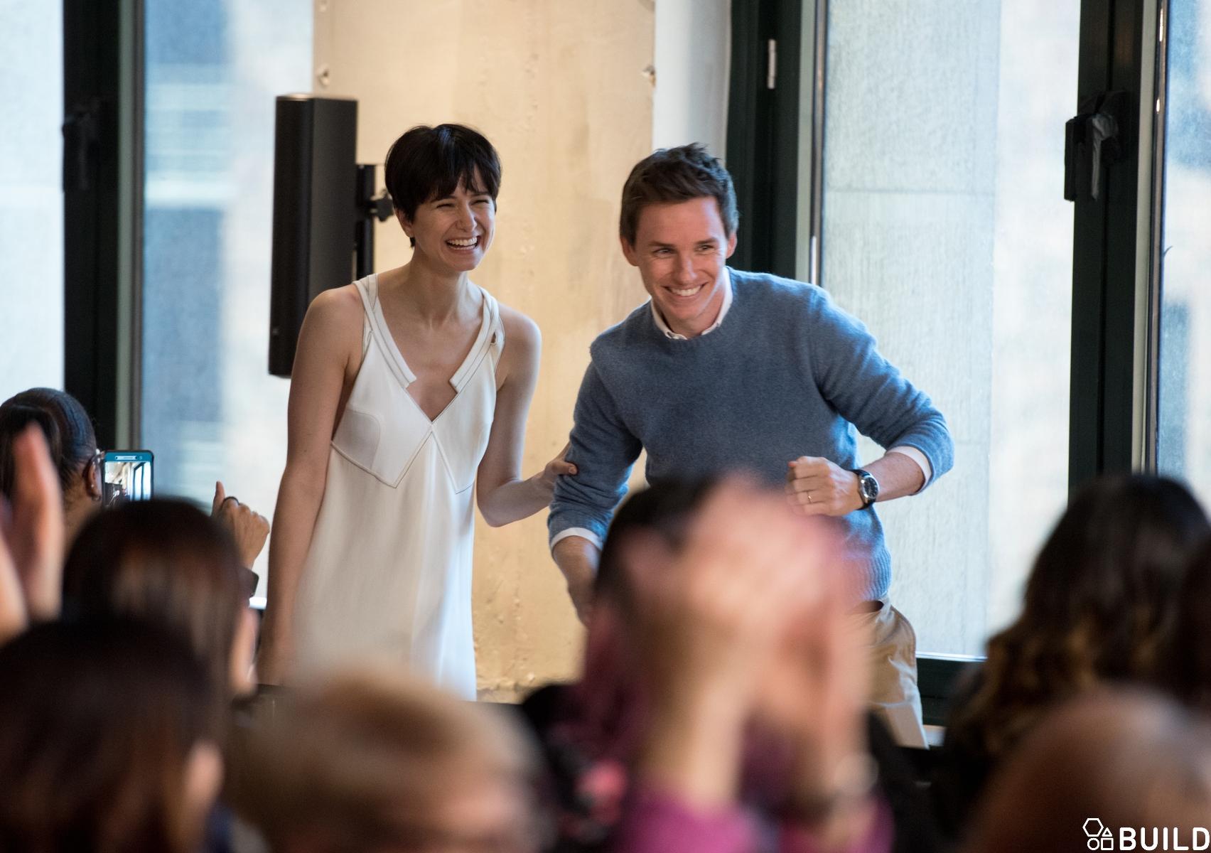 Eddie Redmayne, Katherine Waterston, Dan Fogler & Alison Sudol visits AOL Hq for Build on November 11, 2016 in New York. Photos by Noam Galai