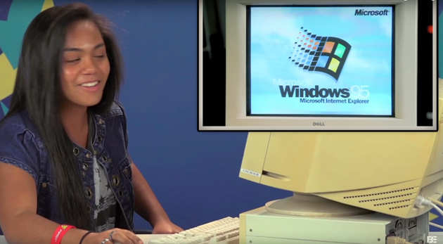 Antiquitätenschau: Teenager von heute probieren Windows 95 aus