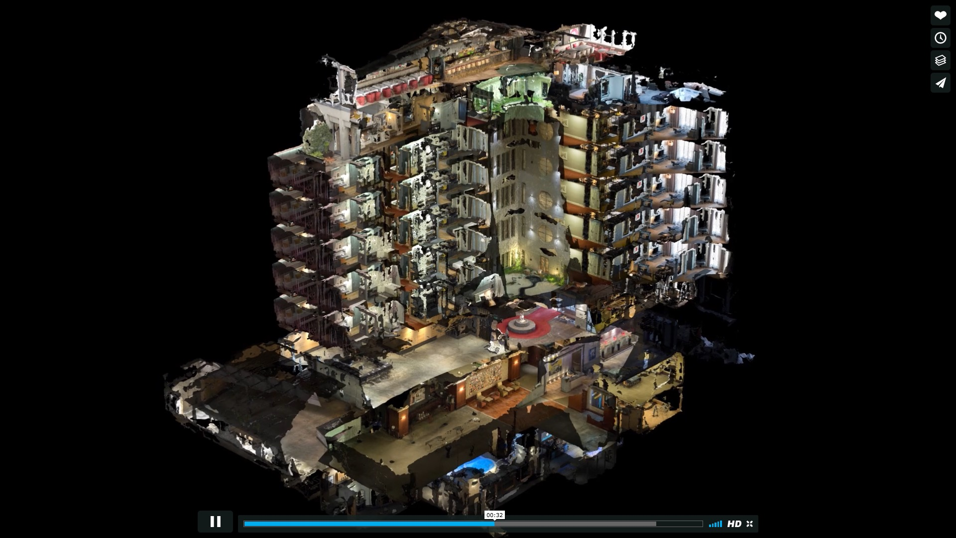 10.000 Fotos und ein 3D-Model für eine psychedelische Gebäudereise