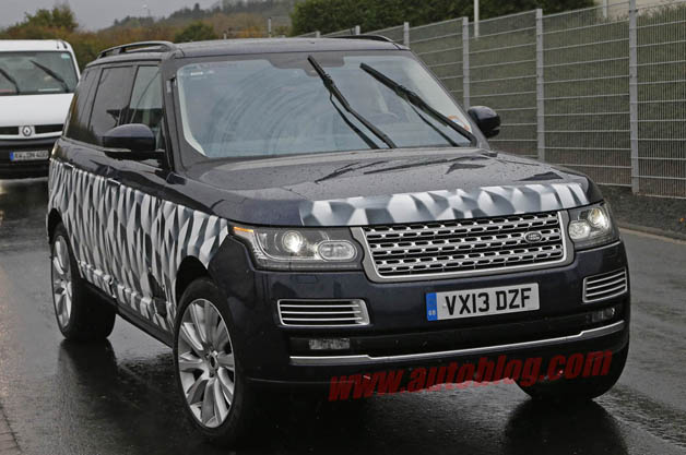 Spy Shots: Land Rover spotted testing long-wheelbase Range Rover SVR at the 'Ring
