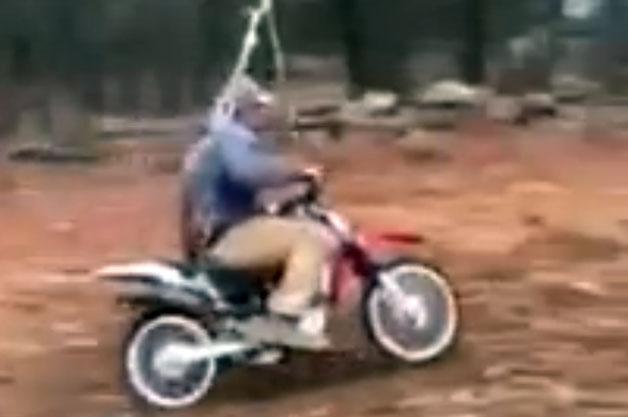 Video  Innovative dad creates dangerously impressive motocross swing