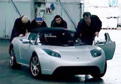 Tesla Roadster Top Gear segment