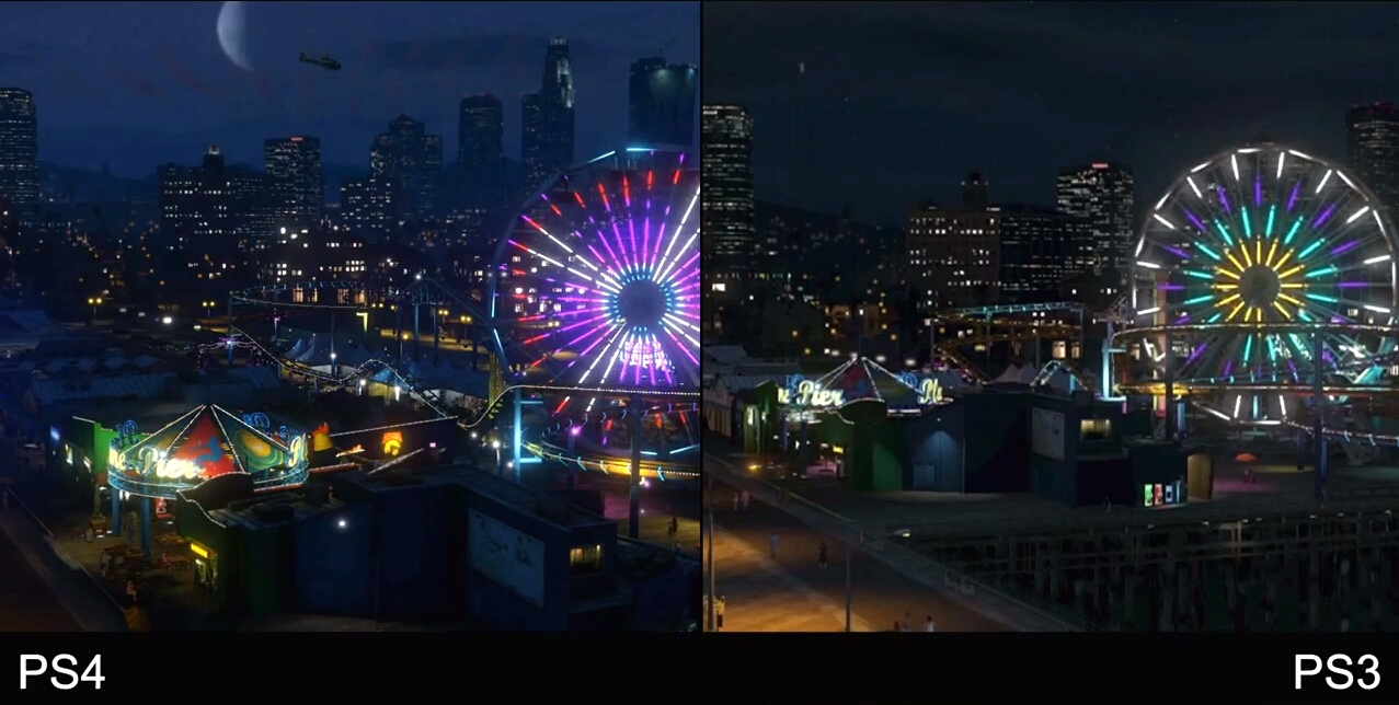See Grand Theft Auto V next-gen graphics versus last-gen