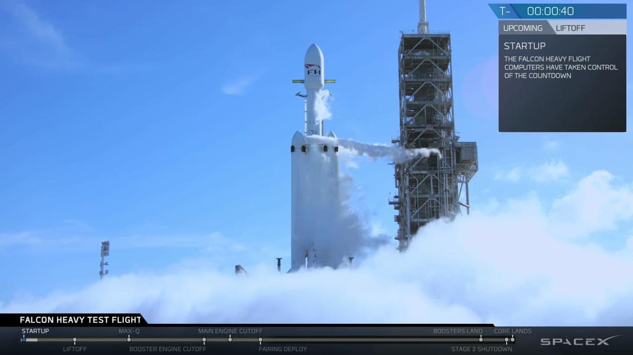 Zum Nachgucken: Raketentestflug der SpaceX Falcon Heavy