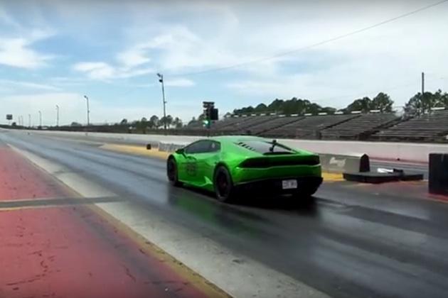 【ビデオ】ヘフナー・パフォーマンスがチューンしたランボルギーニ「ウラカン」、1/4マイルで8.6秒を記録!