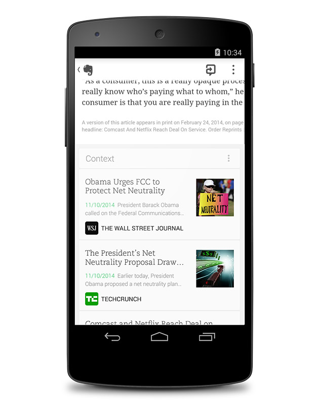 Evernote now adds context to your memos on Android and Windows