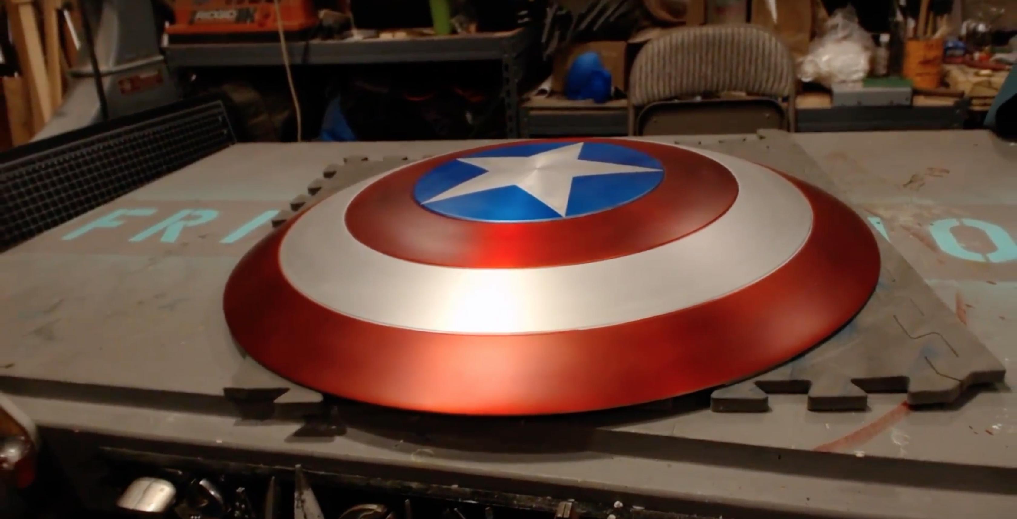 Fan-made Captain America shield pulls off a few superhero tricks