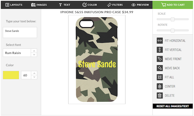Web design form for Skinit inkFusion Pro iPhone case