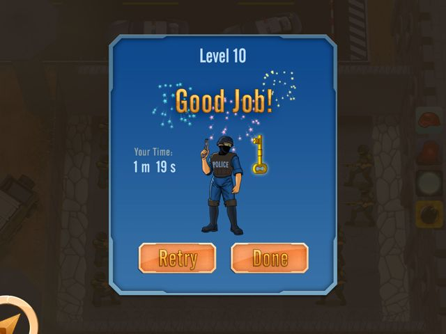 End of level screen for Prison Defense