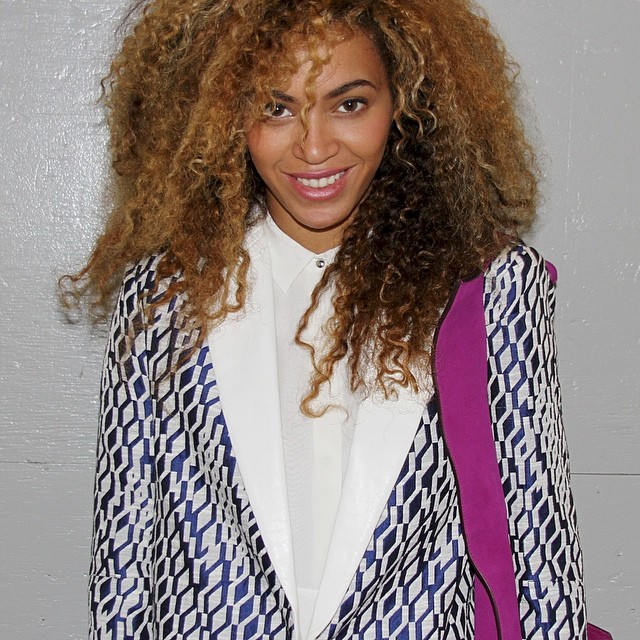 beyonce new hair instagram picture