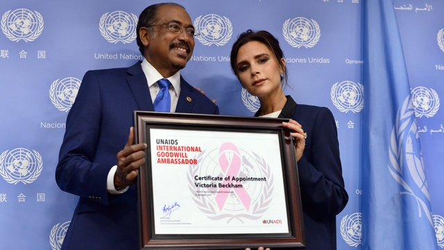Victoria Beckham named UNAIDS Goodwill Ambassador in New York