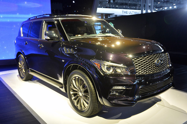 2015 infiniti qx80 gets a minor refresh fancy new trim. Black Bedroom Furniture Sets. Home Design Ideas