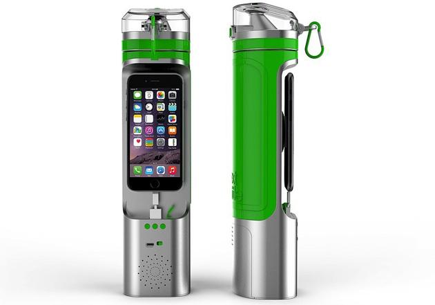 nextbottle trinkflasche mit iphone dock und lautsprecher engadget deutschland. Black Bedroom Furniture Sets. Home Design Ideas