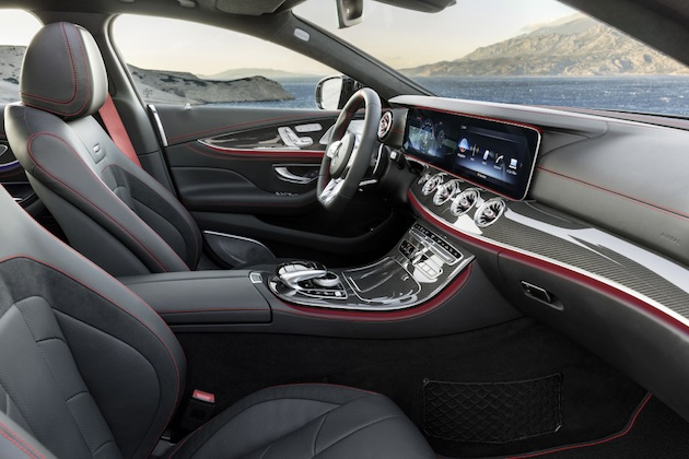 Mercedes-AMG CLS 53 4MATIC+; Interieur: Leder Nappa schwarz mit roten Ziernähten; Exterieur: graphitgrau;Kraftstoffverbrauch kombiniert: 8,4 l/100 km; CO2-Emissionen kombiniert: 200 g/km*Mercedes-AMG CLS 53 4MATIC+; interior: Nappa leather black with red stiching; exterior: graphite grey;fuel consumption combined: 8.4 l/100 km; CO2 emissions combined: 200 g/km*