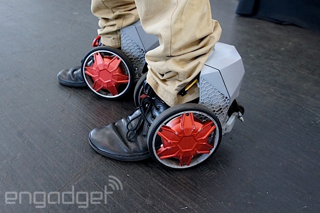 RocketSkates let you zip along the sidewalk at a top speed of 12MPH