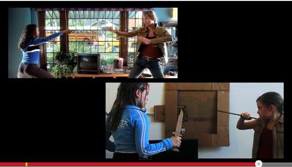 少女が映画「キル・ビル」の過激バイオレンスシーンを完全コピー、映画ファン大絶賛