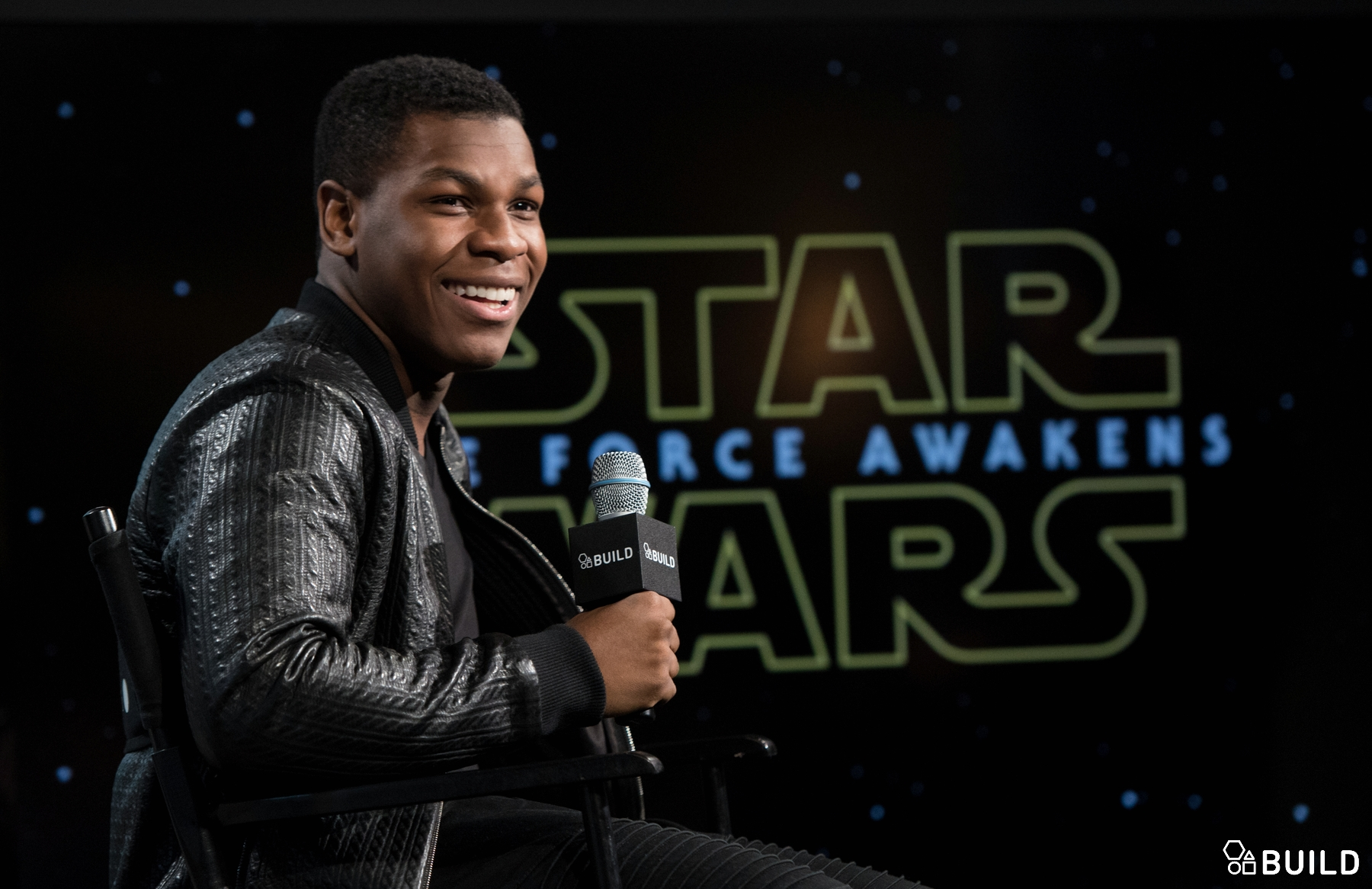 John Boyega visits AOL Hq for Build on December 3, 2015 in New York. Photos by Noam Galai