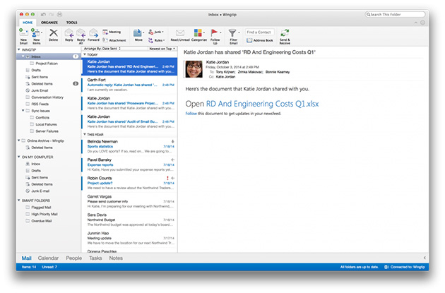 Microsoft releases new Outlook for Mac to Office 365 subscribers