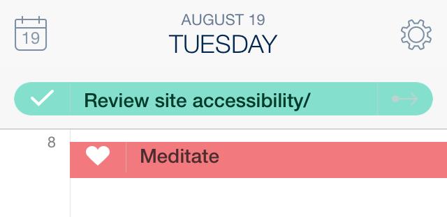 Task suggestion dragged into calendar