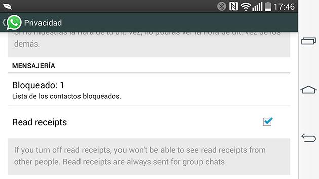Ya puedes eliminar el doble check azul de WhatsApp