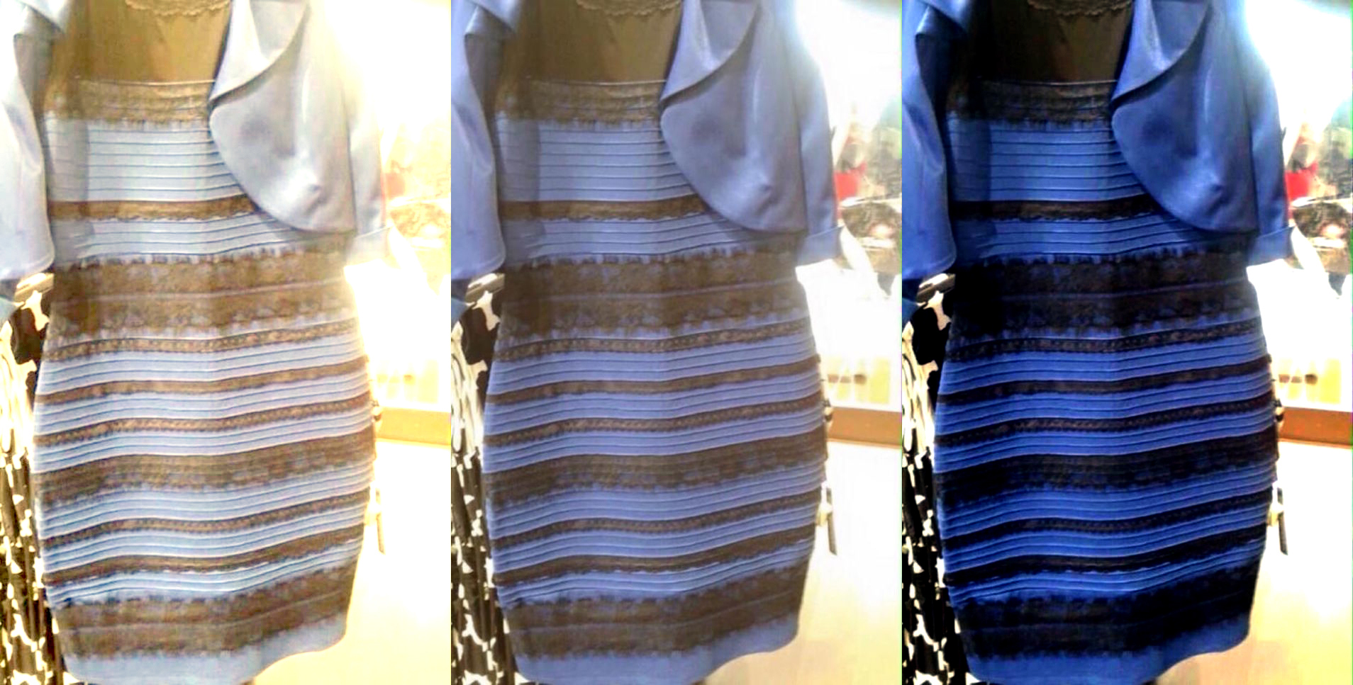 Blue or gold dress meaning