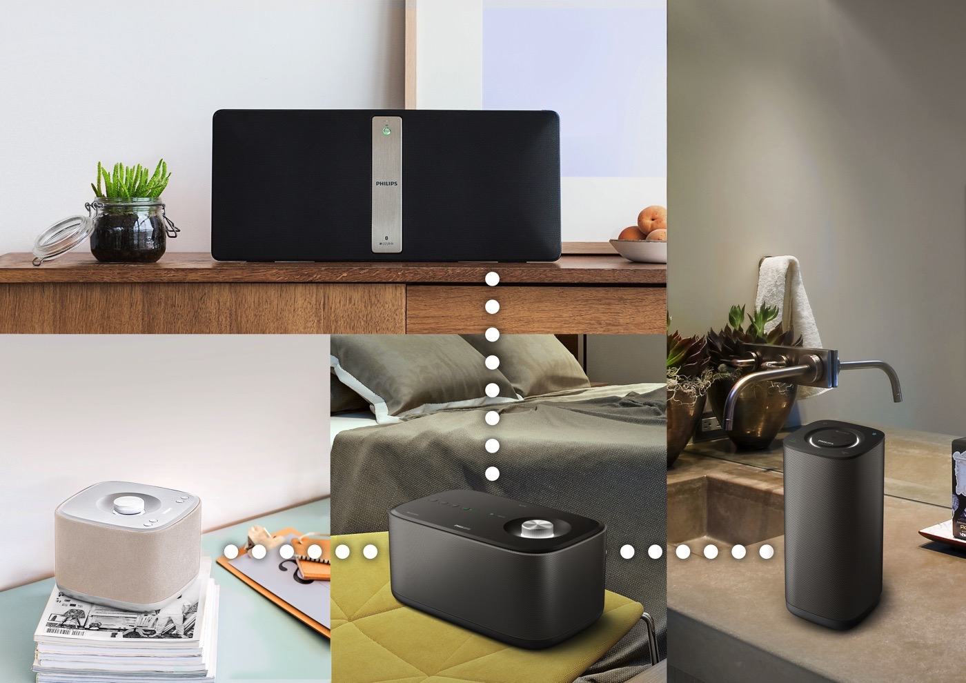 philips goes after sonos with its izzy multi room audio line. Black Bedroom Furniture Sets. Home Design Ideas