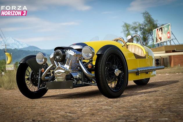 『Forza Horizon 3』の最新カーパックが配信開始! モーガン「3ホイーラー」やトヨタ「スープラ」などを収録