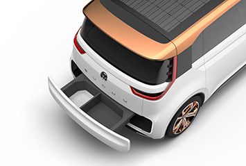 vw volkswagen budd-e concept ces 2016