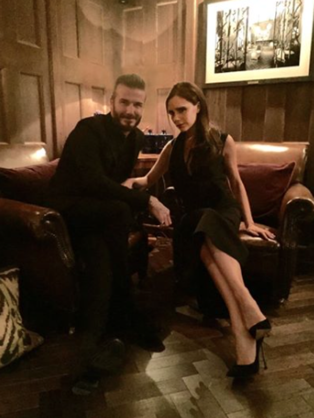 David and 'beautiful' wife Victoria Beckham enjoy date night