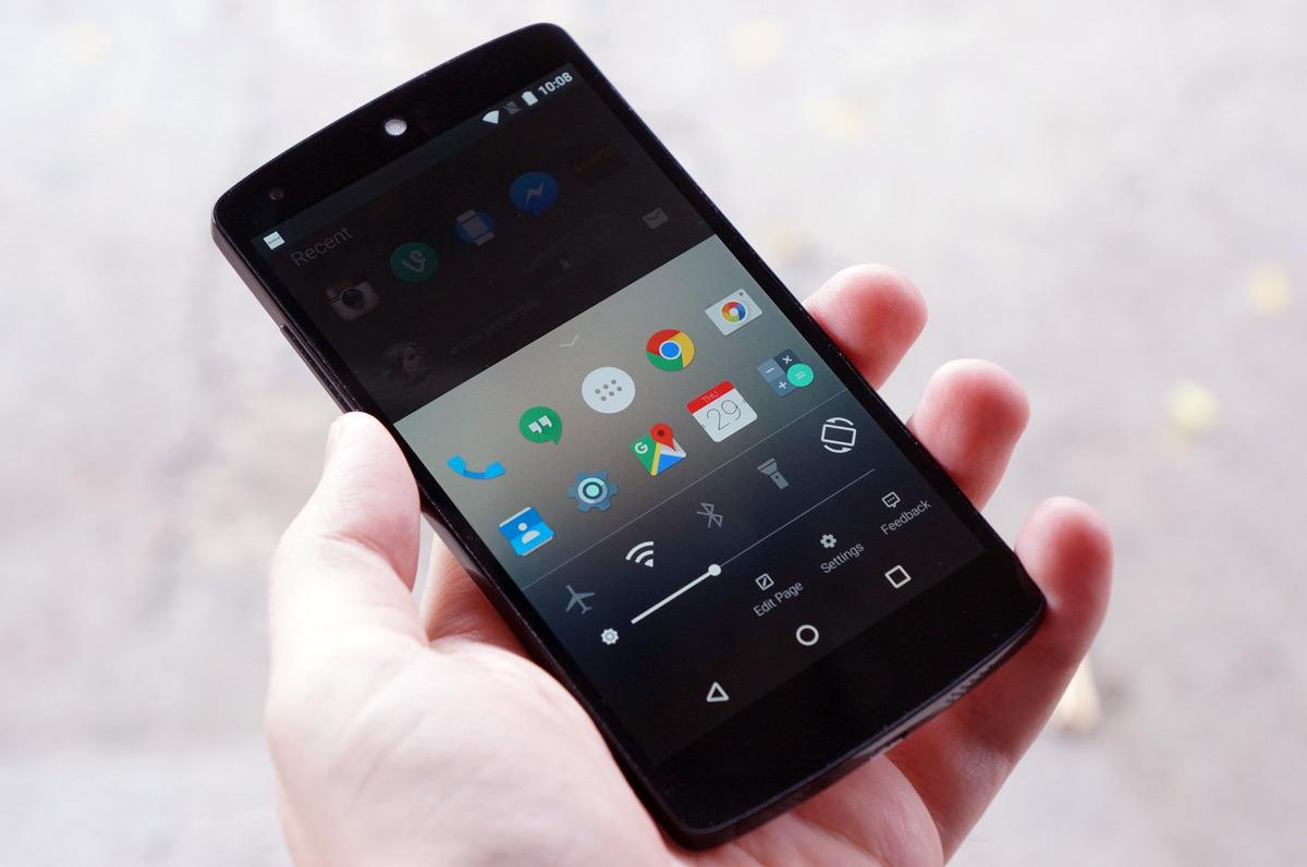 Microsoft's Arrow launcher on a Nexus 5